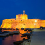 Fort of Saint Nicholas at night — Stock Photo #10968708