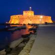 Fort of Saint Nicholas at night — Stock Photo #10968789