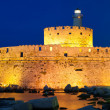 Fort of Saint Nicholas at night — Stock Photo #10968829