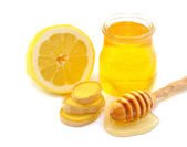 Honey, lemon, ginger — Stock Photo
