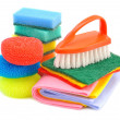 Sponges and brushes for cleaning — Stock Photo #11412535