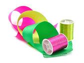 Thread and ribbon — Stock Photo