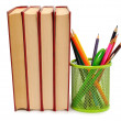Stock Photo: Books and pencils
