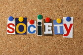 The word Society — Stock Photo