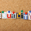 The Word Equality — Stock Photo #10911074