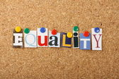 The Word Equality — Stock Photo