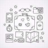 Travel doodles — Stock Vector