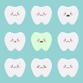 Sad teeth — Stock Vector
