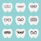 Fashion teeth — Vector de stock