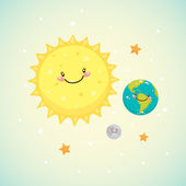 Cute space — Stock Vector
