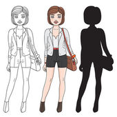 Fashion student — Stock Vector