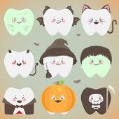 Halloween teeth — Stock Vector