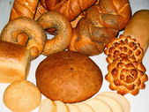 Bread, rolls and other pastries — Stock Photo