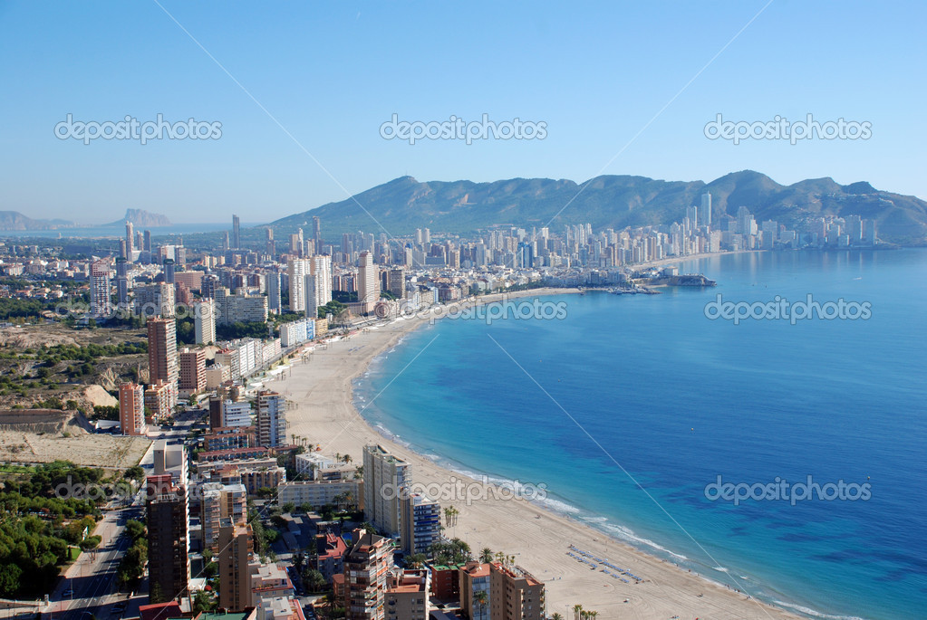 The city Benidorm on the Costa Blanca (Spain) — Stock Photo #11078871