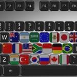 G20 keyboard — Stock Photo