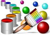 Rainbow painting — Stock Photo