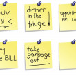 Post it notes collection — Stock Photo #11080000