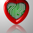 Bionic heart — Stock Photo