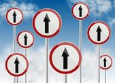 Direction traffic signs — Stock Photo