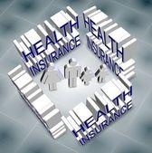 Rodzinne ubezpieczenie zdrowotne — Zdjęcie stockowe