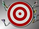 Missed target — Stock Photo