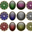 Precious stones set — Stock Photo