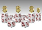 Interest rates high and low — Stock Photo
