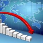 World economy slowing down — Stock Photo