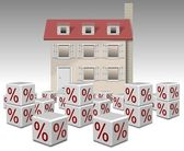Mortgage interest rates — Stock Photo