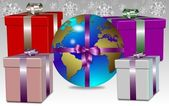 Earth for present — Stock Photo