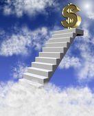 доллар в облаках — Стоковое фото
