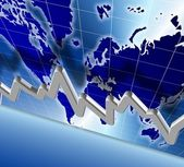 World economy chart — Stock Photo