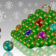 World Christmas tree — Stock Photo #12309280