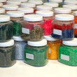 Colorful jars - Stock Photo