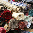Stock Photo: Fabric tubes