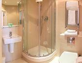 Bathroom minimalistic — Stock Photo