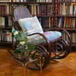 Library chair — Stock Photo