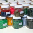 Jars colorful — Stock Photo