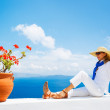 Tourist Relaxing on Vacation — Stock Photo #11405409