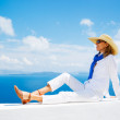 Tourist Relaxing on Vacation — Stock Photo #11405414