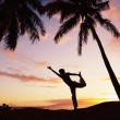 Sunset Yoga - Stock Photo