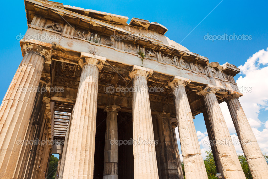 Ancient Temple Greek Ruins Acropolis — Stock Photo #11520301