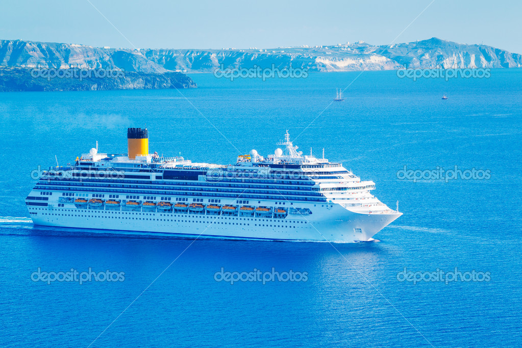 Luxury Cruise Ship at Sea  Stock Photo #11521020