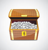 Treasure chest — Stock Vector