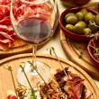 Spanish dinner prepared - Stock Photo