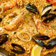 Delicious spanish paella - Stock Photo