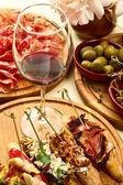 西班牙晚餐准备 — 图库照片
