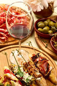 Spanish dinner prepared — Stock Photo