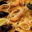 Delicious spanish paella — Stock Photo