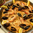 Delicious spanish dinner - Stock Photo